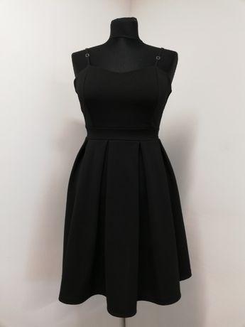 Sukienka czarna rozkloszowana rozm. 34