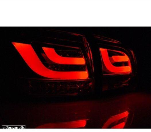FAROLINS TRASEIROS LED LIGHTBAR VW GOLF 6 MK VI 08-12 VERMELHO ESCURECIDO