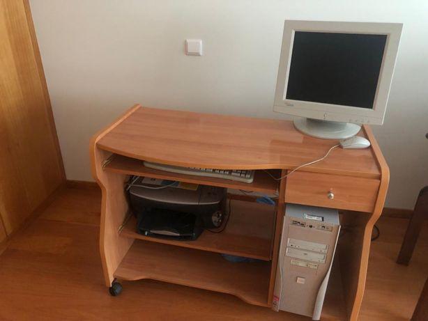 Secretaria + computador + impressora multifunçoes