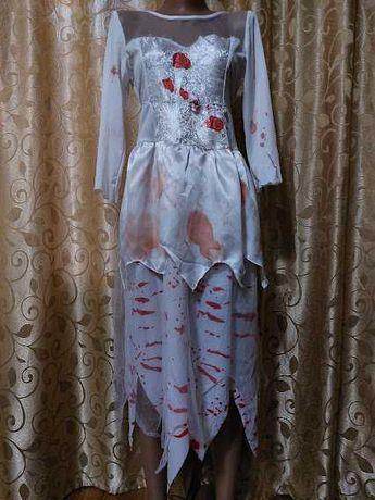 Карнавальное кровавое платье на хеллоуин, halloween