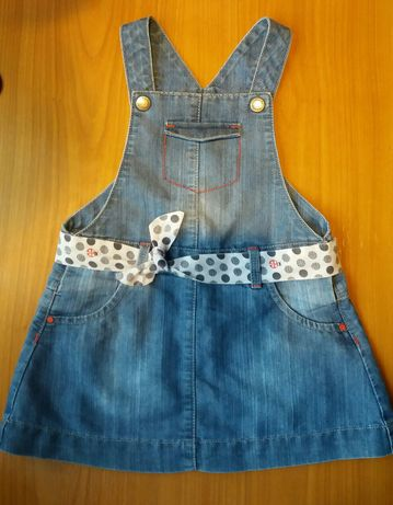 Sukienka jeansowa Okaidi (Obaibi) 86 cm