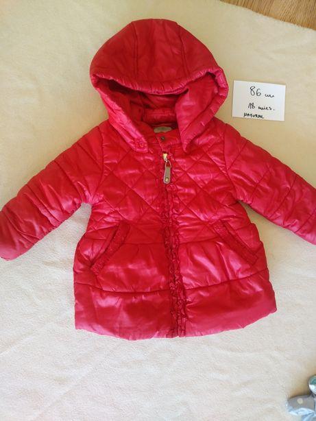 Kurtka zimowa Mayoral 86 cm czerwona dziewczęca śliczna