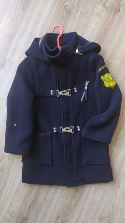 Elegancka parka z wełną DKNY rozmiar 6 płaszcz dla chłopca