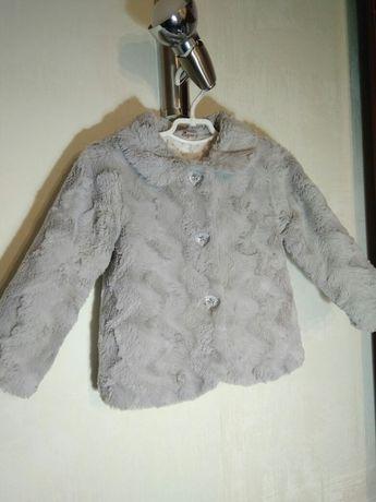 Красивая фирменная курточка пальтишко для девочки на меху 2-3года