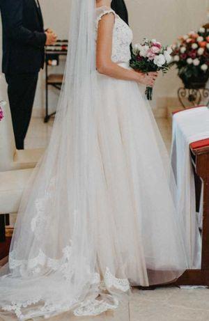 Sprzedam suknię ślubną GLAM BOHO top plus spódnica salon MADONNA 34/36