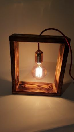 Lampka retro,nocna,ozdobna,dekoracyjna,prezenthomemade,edison,handmade