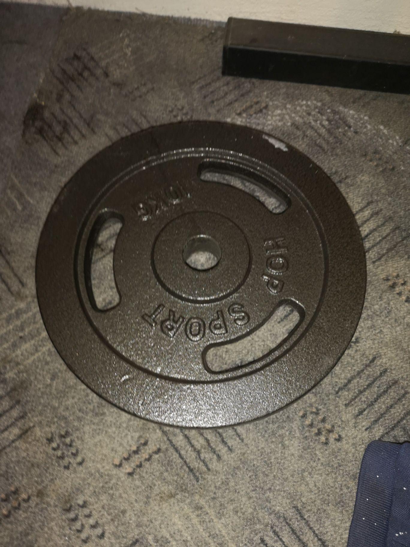 Obciążenie na siłownię żeliwne hop sport 2x10 kg.