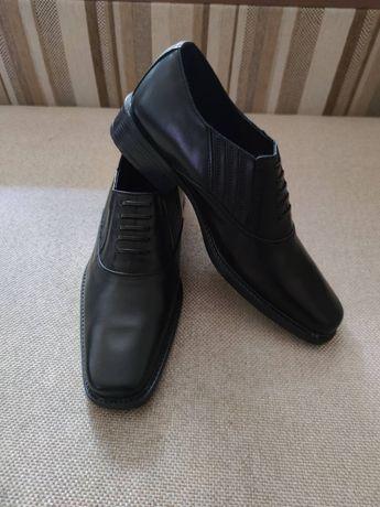 Туфли мужские кожаные,новые, размер 43