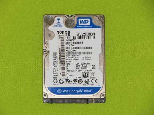Жёсткий жорсткий диск Western Digital WD Scorpio Blue 320GB WD3200BEVT