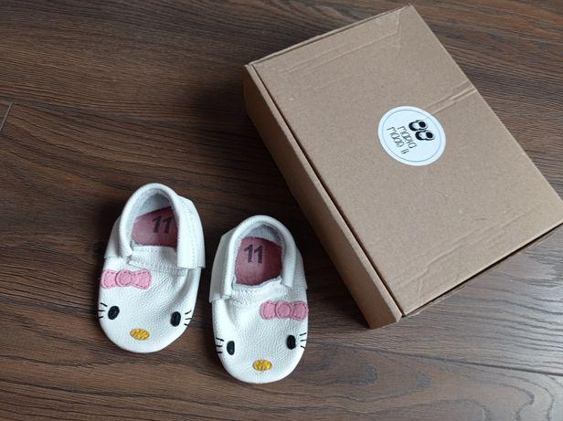 Skórzane buty niechodki rozm.11