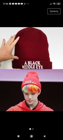 Czapka beanie burgundowa sehun exo k-pop a Black middle eye korea
