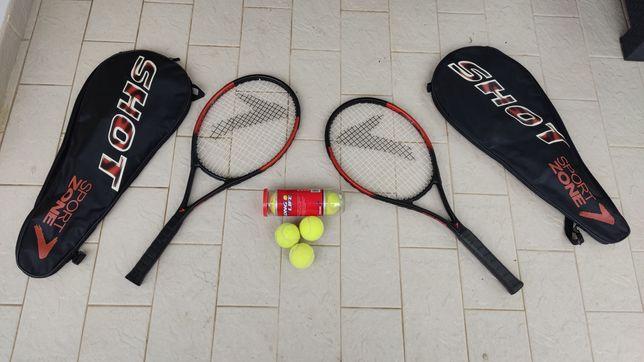 Set de tênis (2 raquetes + 6 bolas)