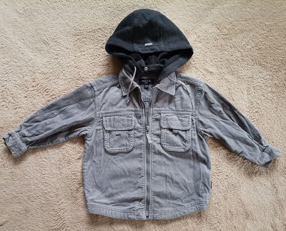Super koszula sztruksowa długi rękaw sztruks Mexx Kids 98 - 104 kaptur