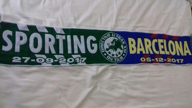 Cachecol Coleção Sporting X Barcelona