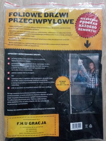Foliowe drzwi przeciwpyłowe