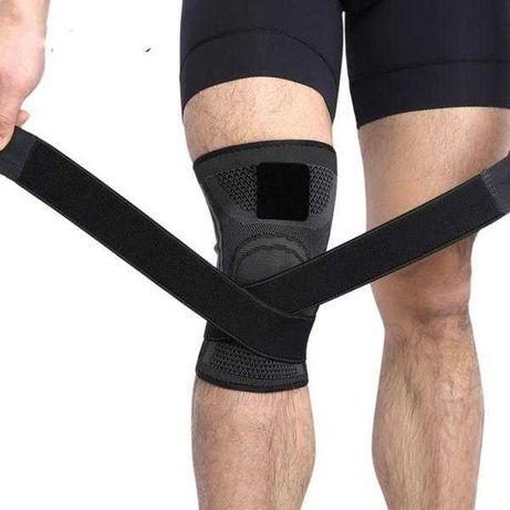Бандаж на коленный сустав / фиксатор колена / наколенник с ремнями