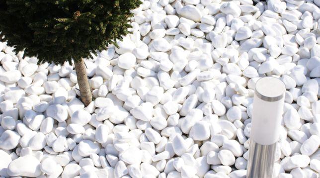 Otoczak grecki thasoss (śnieznobiały kamień, ogród, ozdoby)