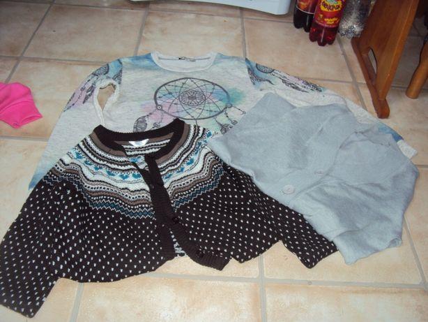 Sweter bluzka paka 30 zł s/m 36/38 długi rozpinany sweter bluza