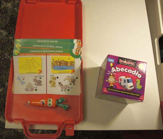 Gry 3-4 lata - Karotka Encyklopedia Zwierząt oraz Abecadło BrainBox