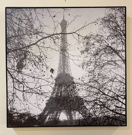 Tela Torre Eiffel preto e branco