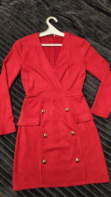 Платье красное, размер 36