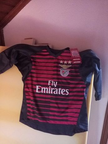 Camisola oficial Benfica SLB nova a estrear para criança