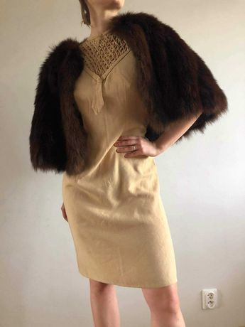 sukienka, lata40, lata30, handmade, vintage, wełniana