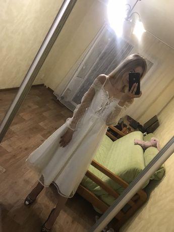Свадебное платье /сарафан