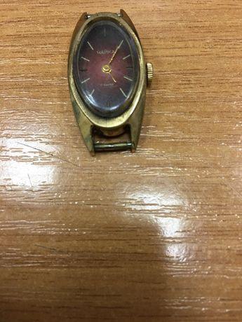 Женские наручные часы Чайка, времён СССР, рабочие, с клеймом AU 10