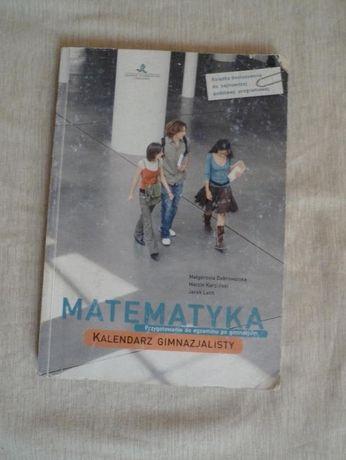 Matematyka - kalendarz gimnazjalisty, podręcznik z zadaniami