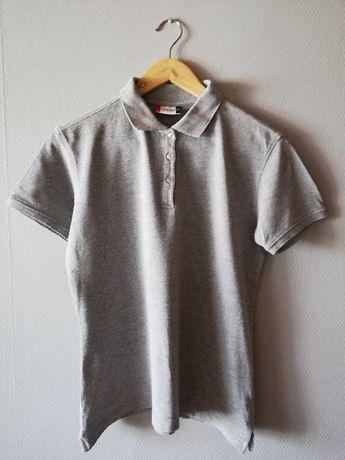 Polo T-shirt koszulka bluzka krótki rękaw szara 158 13/14 L