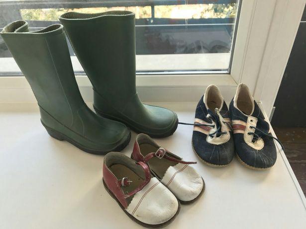 Польские резиновые детские сапоги ссср обувь одежда сандали