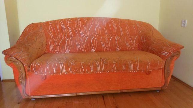 Komplet wypoczynkowy rozkładana sofa +2 fotele