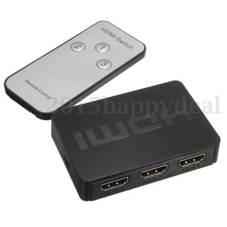 SWITCH rozdzielacz HDMI full HD 3 IN 1 OUT PILOT Wwa