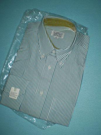 Новая мужская рубашка р.l-xl 50-52 в полоску, хлопок