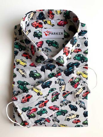 koszula męska samochody garbus syrena vw golf polonez junak osa simson