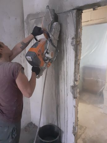 Расширение окон дверей Алмазная резка Демонтаж