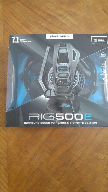 Auscultadores Gaming 7.1 Plantronics RIG 500E - Novo e selado