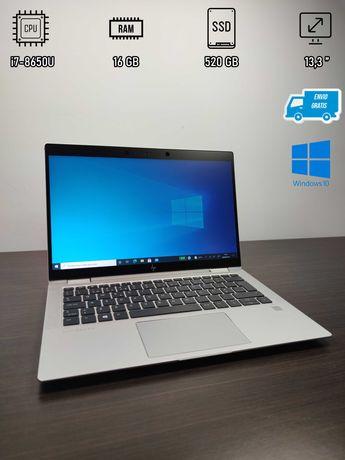 Portátil HP EliteBook X360_1030_G3 - i7 8650U / SSD 512 GB / 16 GB RAM