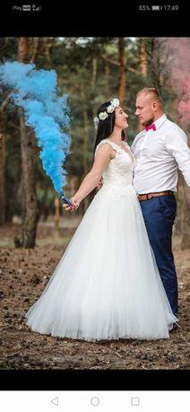 Suknia ślubna wraz z dodatkami