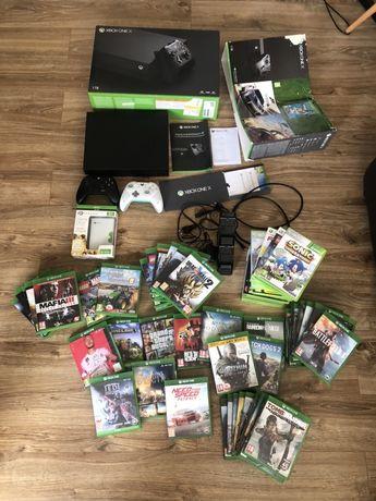 Konsola Xbox One X Najmocniejsza 4K +Pady+ Gry FIFA FORTNITE Zam Ps4