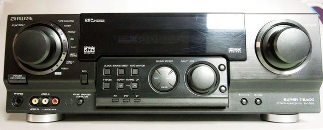 Amplituner (wzmacniacz) Aiwa AV-D58 + odtwarzacz Blu-Ray Sony.