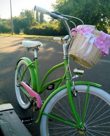 Rower Embassy zielony + kosz