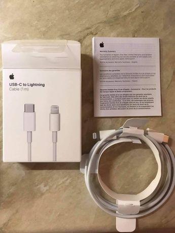Oryginalny kabel iPhone Lightning-USB C nowy gwarancja