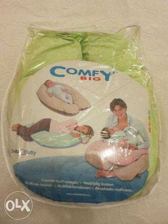 Almofada de amamentação Comfy Big da Delta Baby - dulpa face
