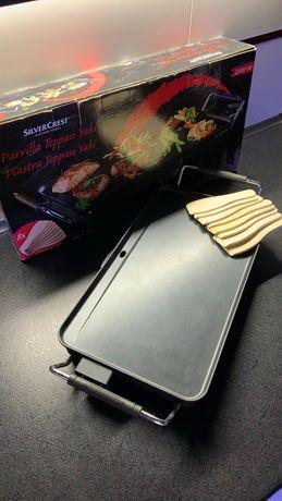 Електрична плита гриль для приготування овочів, м'яса, риби