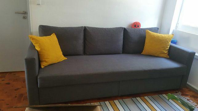 Vendo sofa cama com cofre