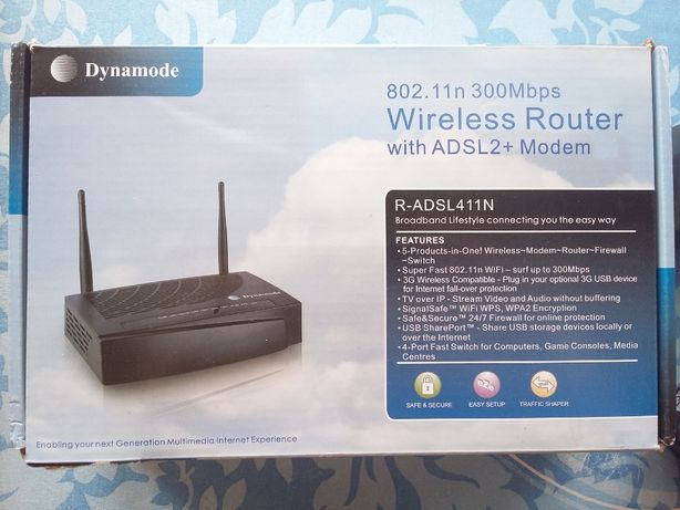 Ruter wifi Dynamode ADSL2