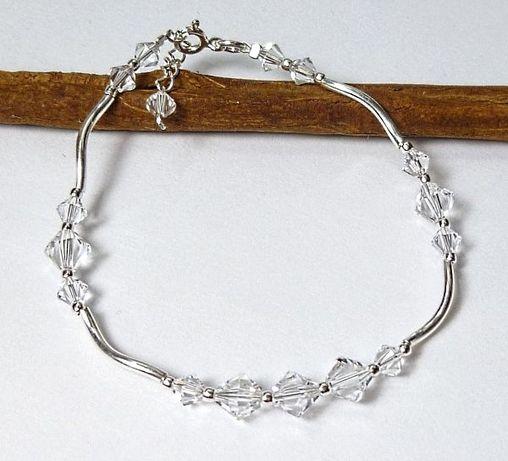 bransoletka na ślub SWAROVSKI CRYSTAL srebro s147