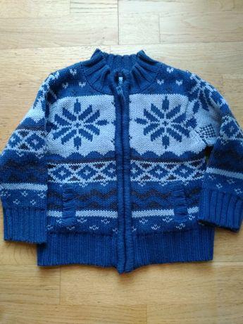 Sweter w norweskie wzory 98 cm 2-3 lata